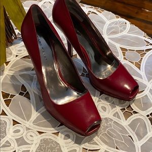 Marc Fisher Dark Red Leather Pumps